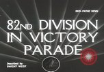 Image of 82nd AirBorne Division homecoming parade New York City USA, 1946, second 3 stock footage video 65675059429