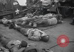 Image of American soldiers English Channel, 1944, second 9 stock footage video 65675059459
