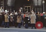 Image of Anti-war demonstrators and GE employees against Vietnam War Washington DC USA, 1969, second 3 stock footage video 65675059473