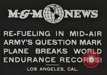 Image of C-2A aircraft midair refueling Los Angeles California USA, 1930, second 2 stock footage video 65675059524