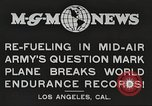 Image of C-2A aircraft midair refueling Los Angeles California USA, 1930, second 4 stock footage video 65675059524