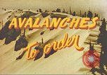 Image of avalanche Alta Utah USA, 1950, second 9 stock footage video 65675059567
