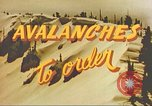 Image of avalanche Alta Utah USA, 1950, second 10 stock footage video 65675059567