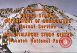 Image of avalanche affected area Alta Utah USA, 1950, second 2 stock footage video 65675059575