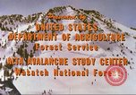 Image of avalanche affected area Alta Utah USA, 1950, second 4 stock footage video 65675059575