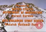 Image of avalanche affected area Alta Utah USA, 1950, second 9 stock footage video 65675059575