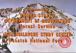 Image of avalanche affected area Alta Utah USA, 1950, second 10 stock footage video 65675059575