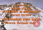 Image of avalanche affected area Alta Utah USA, 1950, second 11 stock footage video 65675059575