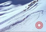 Image of slab avalanche Alta Utah USA, 1950, second 1 stock footage video 65675059577