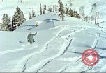 Image of test skiing Alta Utah USA, 1950, second 2 stock footage video 65675059582