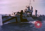 Image of USS Drayton (DD-366) in camouflage paint off coast of Iwo Jima Pacific Ocean, 1944, second 2 stock footage video 65675059676