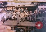 Image of Lieutenant Commander Eddie Peabody and troupe entertain sailors Ulithi Caroline Islands, 1944, second 1 stock footage video 65675059677