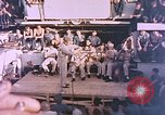 Image of Lieutenant Commander Eddie Peabody and troupe entertain sailors Ulithi Caroline Islands, 1944, second 2 stock footage video 65675059677