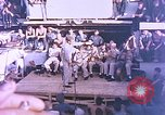 Image of Lieutenant Commander Eddie Peabody and troupe entertain sailors Ulithi Caroline Islands, 1944, second 4 stock footage video 65675059677