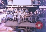 Image of Lieutenant Commander Eddie Peabody and troupe entertain sailors Ulithi Caroline Islands, 1944, second 5 stock footage video 65675059677