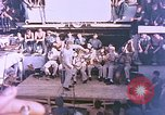 Image of Lieutenant Commander Eddie Peabody and troupe entertain sailors Ulithi Caroline Islands, 1944, second 7 stock footage video 65675059677