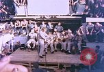 Image of Lieutenant Commander Eddie Peabody and troupe entertain sailors Ulithi Caroline Islands, 1944, second 9 stock footage video 65675059677