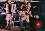 Image of sailors playing instruments Pacific Ocean, 1944, second 2 stock footage video 65675059679