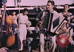 Image of sailors playing instruments Pacific Ocean, 1944, second 5 stock footage video 65675059679