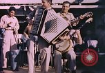Image of sailors playing instruments Pacific Ocean, 1944, second 7 stock footage video 65675059679