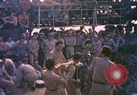 Image of sailors playing instruments Pacific Ocean, 1944, second 8 stock footage video 65675059679