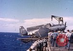 Image of F6F aircraft Pacific Ocean, 1945, second 5 stock footage video 65675059716