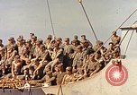 Image of Soldiers and sailors aboard a US Navy Transport ship Pacific Ocean, 1945, second 4 stock footage video 65675059730