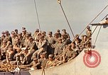 Image of Soldiers and sailors aboard a US Navy Transport ship Pacific Ocean, 1945, second 5 stock footage video 65675059730