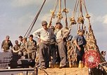 Image of Soldiers and sailors aboard a US Navy Transport ship Pacific Ocean, 1945, second 6 stock footage video 65675059730