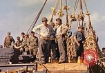 Image of Soldiers and sailors aboard a US Navy Transport ship Pacific Ocean, 1945, second 7 stock footage video 65675059730