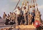 Image of Soldiers and sailors aboard a US Navy Transport ship Pacific Ocean, 1945, second 8 stock footage video 65675059730