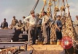 Image of Soldiers and sailors aboard a US Navy Transport ship Pacific Ocean, 1945, second 11 stock footage video 65675059730