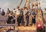 Image of Soldiers and sailors aboard a US Navy Transport ship Pacific Ocean, 1945, second 12 stock footage video 65675059730