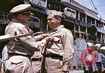 Image of Crew of USS Catfish receive Submarine Warfare Insignia Pearl Harbor Hawaii USA, 1945, second 9 stock footage video 65675059778