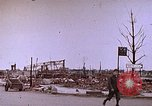 Image of WW2 bombing damage and Imperial Palace grounds Tokyo Japan, 1945, second 2 stock footage video 65675059786