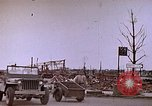 Image of WW2 bombing damage and Imperial Palace grounds Tokyo Japan, 1945, second 8 stock footage video 65675059786