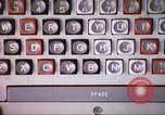 Image of talking typewriter Illinois United States USA, 1967, second 5 stock footage video 65675059874