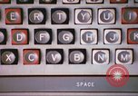 Image of talking typewriter Illinois United States USA, 1967, second 6 stock footage video 65675059874