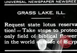 Image of lotus flowers Grass Lakes Illinois USA, 1930, second 1 stock footage video 65675059950