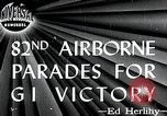 Image of 82nd Airborne Division New York City USA, 1946, second 1 stock footage video 65675059956