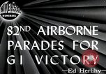Image of 82nd Airborne Division New York City USA, 1946, second 5 stock footage video 65675059956