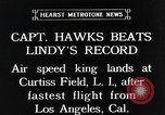Image of Captain Hawks in Travel Air Mystery S aircraft Long Island New York USA, 1931, second 1 stock footage video 65675059960