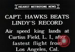 Image of Captain Hawks in Travel Air Mystery S aircraft Long Island New York USA, 1931, second 4 stock footage video 65675059960