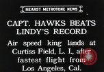 Image of Captain Hawks in Travel Air Mystery S aircraft Long Island New York USA, 1931, second 5 stock footage video 65675059960