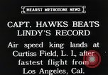 Image of Captain Hawks in Travel Air Mystery S aircraft Long Island New York USA, 1931, second 11 stock footage video 65675059960
