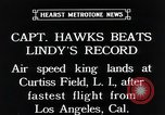 Image of Captain Hawks in Travel Air Mystery S aircraft Long Island New York USA, 1931, second 12 stock footage video 65675059960