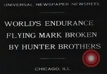 Image of Attempt to set new airborne endurance record Northbrook Illinois United States USA, 1930, second 1 stock footage video 65675059964