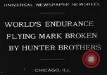 Image of Attempt to set new airborne endurance record Northbrook Illinois United States USA, 1930, second 2 stock footage video 65675059964