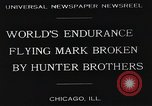Image of Attempt to set new airborne endurance record Northbrook Illinois United States USA, 1930, second 3 stock footage video 65675059964