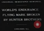 Image of Attempt to set new airborne endurance record Northbrook Illinois United States USA, 1930, second 4 stock footage video 65675059964